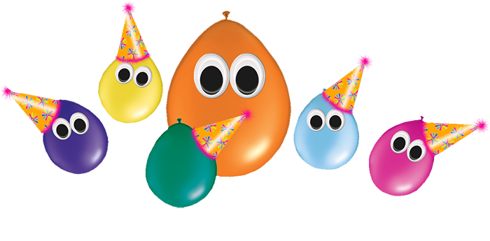 Cartoon party balloons